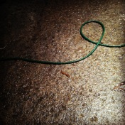 hose on garage floor