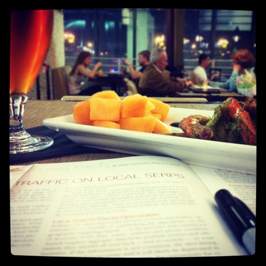 dinner at the airport