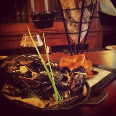 Moules & Frites at Victoire Belgium Beer Bar