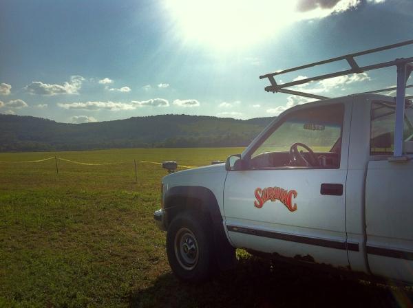 saranac truck at wrobel farms