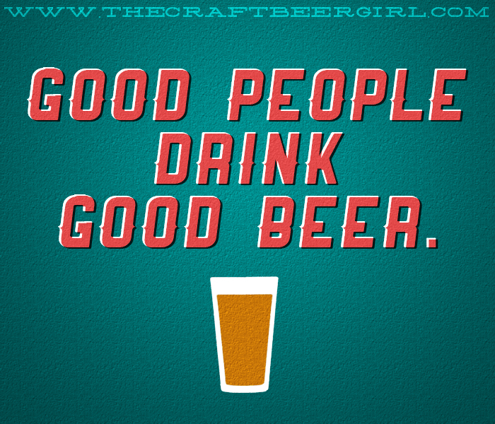good people drink good beer - HST