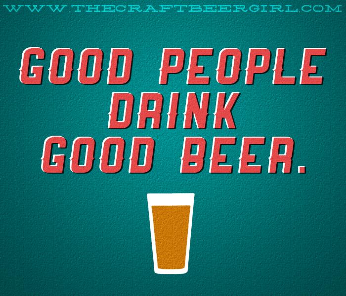 good people drink good beer - HST