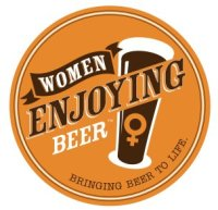 women enjoying beer logo