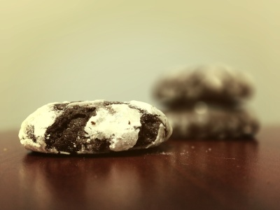 chocolate stout crinkle cookies