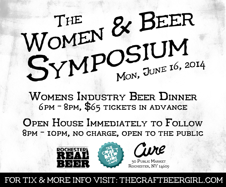 Women & Beer Symposium - More info at: http://thecraftbeergirl.com
